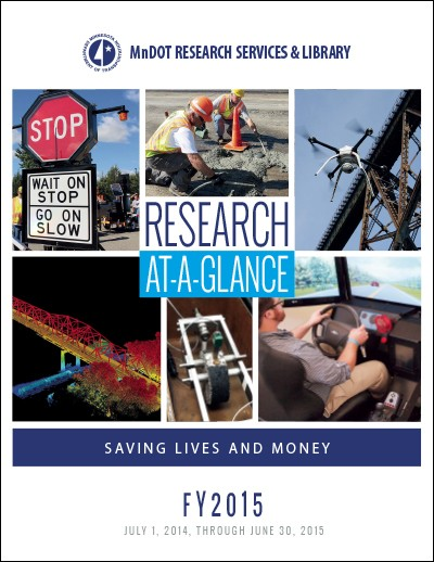 MnDOT Research 2015 At-a-Glance annual report