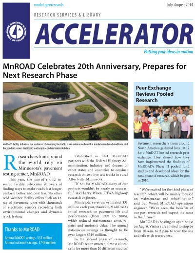 MnDOT Accelerator newsletter, July/August 2014 issue