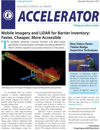 November-December 2014 Accelerator newsletter