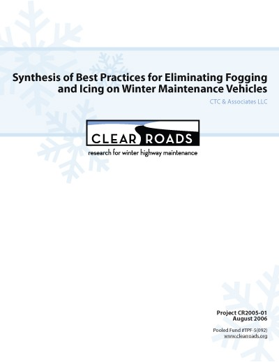 Clear Roads: Anti-fogging report