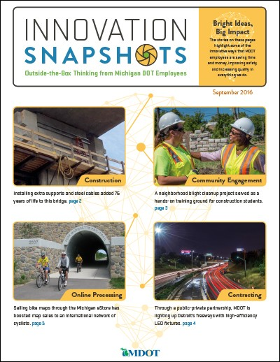 Michigan DOT Innovation Snapshots - September 2016