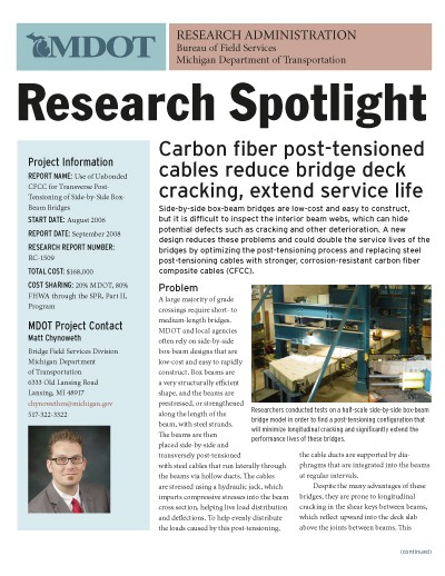 MDOT Research Spotlight: Carbon Fiber Cables