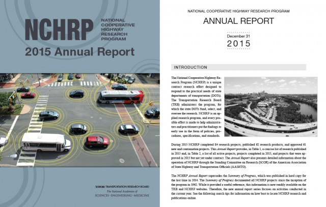 NCHRP 2015 Annual Report