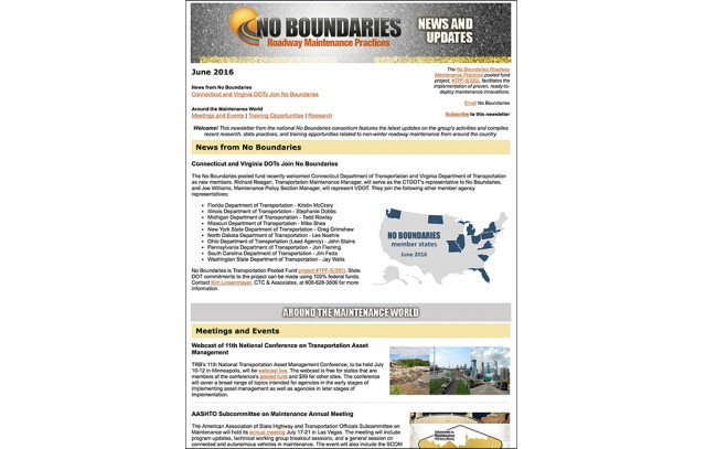 No Boundaries June 2016 newsletter