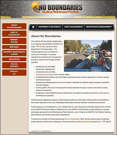 No Boundaries website
