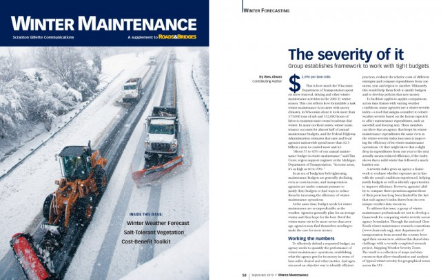 Feature Article on Clear Roads Winter Severity Maps