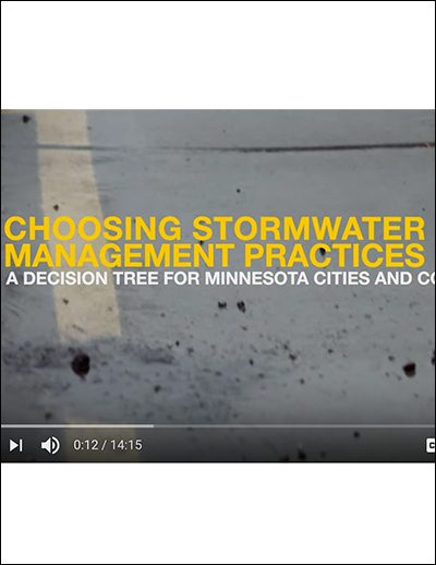 Minnesota LRRB video: Choosing Stormwater Management Practices